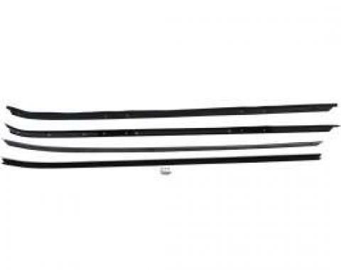 Camaro Window Felt WeatherStrip Kit, Inner & Outer, for Cars with Chrome Moldings, 1970-1981