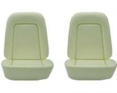 Camaro Bucket Seat Foam Cushions, With Reinforcing Wire, Standard Interior, 1969