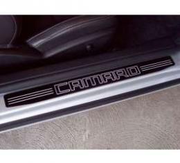 Camaro Black Billet Camaro Lettering Sill Plates 2010-2013