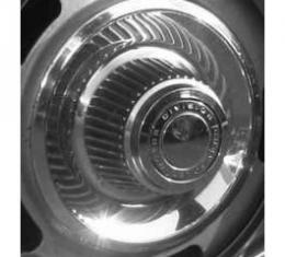 Camaro Rally Wheel High Top Center Base & Ornament, GM, 1968-1969