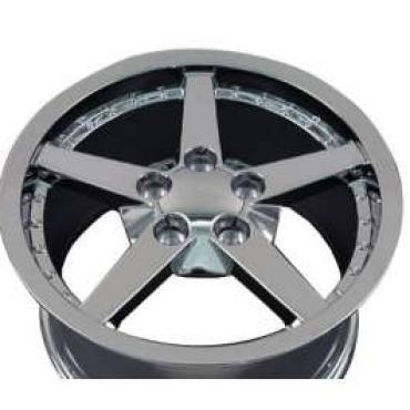 Camaro 17 X 9.5 C6 Style Deep Dish With Rivets Reproduction Wheel, Chrome, 1993-2002