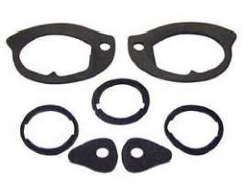 Camaro Door Handle & Trunk Lock Gasket Set, Outside, 1967-1969