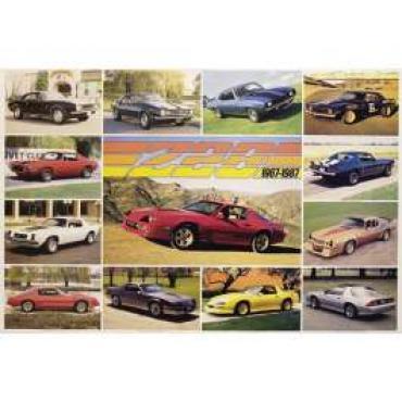 Camaro Z28 Poster, 1967-1987
