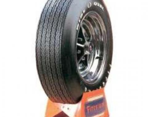 Camaro Tire, F70 x 14, Firestone Wide Oval, With Raised White Letters, 1970-1974