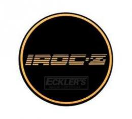Camaro Iroc-Z Wheel Center Cap Insert, Gold, 1988