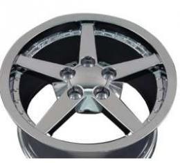 Camaro 18 X 8.5 C6 Style Deep Dish With Rivets Reproduction Wheel, Chrome, 1993-2002