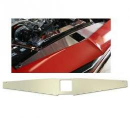 Camaro Core Support Filler Panel, Clear Anodized (Silver Satin), SS Logo, 1967-1969