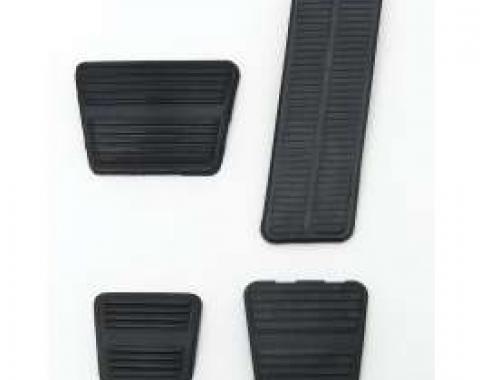 Camaro Pedal Pad Kit, Gas, Brake, Parking Brake & Clutch, For Cars With Manual Transmission & Disc Brakes, 1972-1981