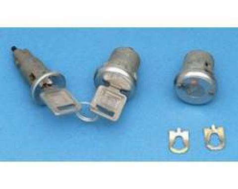 Camaro Ignition & Door Lock Set, With Late Style Keys, 1968
