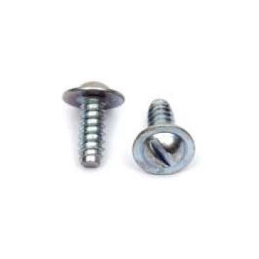 Camaro License Plate Mounting Screws, Flanged, Slotted, Rear, 1967-1969