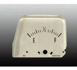 Camaro Console Fuel Level Gauge Face Plate, 1968-1969