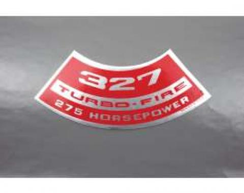 Camaro Air Cleaner Decal, 327 Turbo-Fire 275 Horsepower, 1967-1968