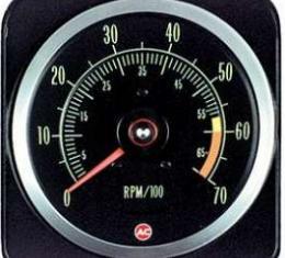 Camaro Tachometer, 6000 RPM Redline, 1969
