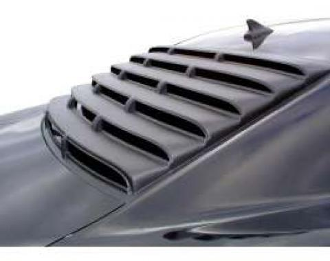 Camaro Louver, Rear Window, 1 Piece, Smooth ABS, 2010-2014