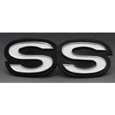 Camaro Grille Emblem, SS, For Cars With Rally Sport (RS) Grille, 1969