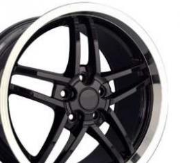 Camaro C6 Z06 Corvette Style Deep Dish Wheel, 18 x 10.5, Black, 1993-2002