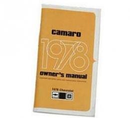 Camaro Owner's Manual, 1978