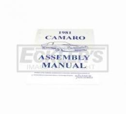 Camaro Factory Assembly Manual, 1981