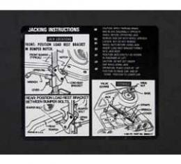 Camaro Jacking Instructions Decal, 1970