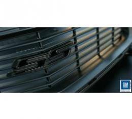 Camaro Grille Emblem, Satin Black/Polished Black, 2010-2013