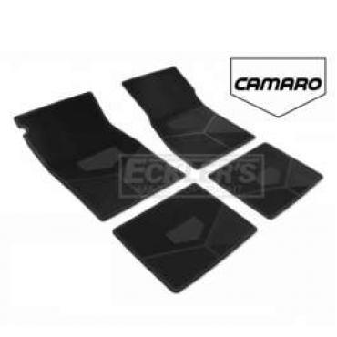 Camaro Rubber Floor Mats, With Block Camaro Script, 1982-1984