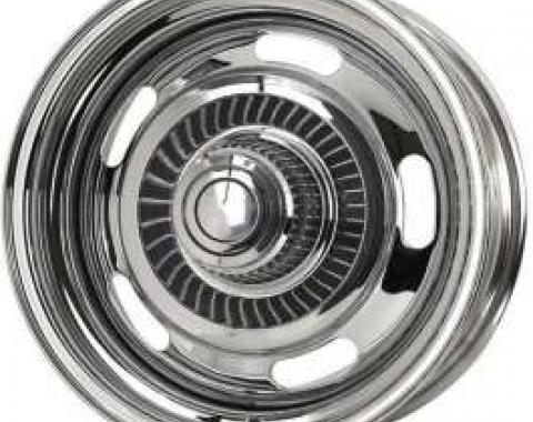 Camaro Rally Wheel, Chrome Plated, 15 x 7, With 4-1/4 Backspacing