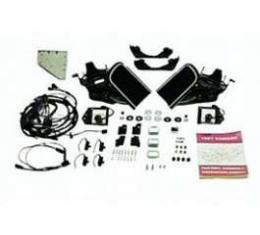 Camaro Rally Sport (RS) Headlight Door System Kit, 6 Cylinder, For Cars With Warning Lights, 1967