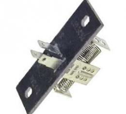 Camaro Heater Blower Motor Resistor Assembly, For Cars Without Air Conditioning, 1967-1981