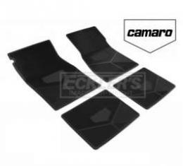 Camaro Rubber Floor Mats, With Block Camaro Script, 1978-1981