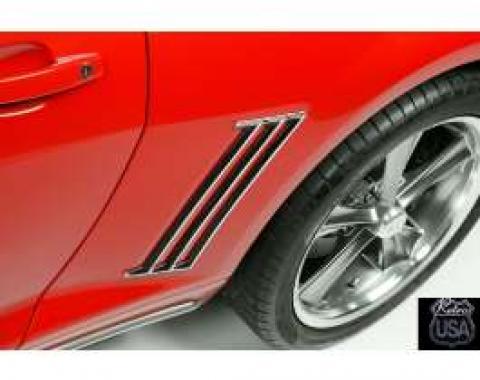 Camaro Chrome Quarter Panel Side Louvers, 2010-2014
