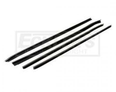 Camaro Four Piece Window Felt Set Round Bead Outer And Flat Inners 1970-1981