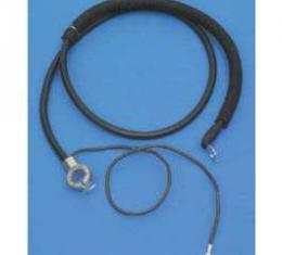 """Camaro Battery Cable, Negative, Top Post, 30"""", 1970-1981"""