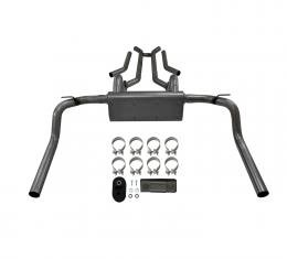 """Camaro Dual Exhaust System, Headers Back, Small Block, 2-1/2"""", Flowmaster, 1970-1974"""