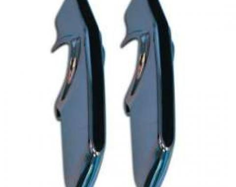 Camaro Rear Bumper Guard, Chrome, Deluxe, Fits Left Or Right, With Rubber Insert, 1967-1968
