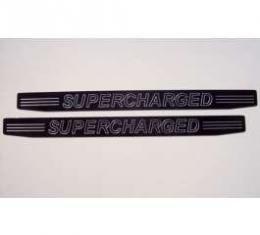 Camaro Black Billet Camaro Supercharged Lettering Sill Plates 2010-2013
