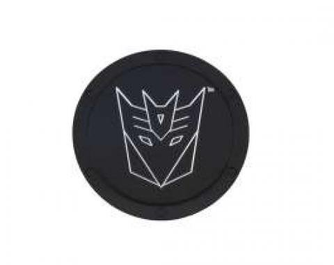 Camaro Transformers Decepticon Logo, Black Billet, Non-Locking Gas Door, 2010-2013