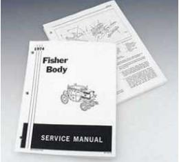 Camaro Fisher Body Service Manual, 1974