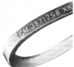 Camaro A.I.R. Pump Belt, Small Block, For Cars Without Air Conditioning, 1967