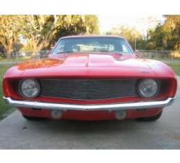 Camaro Grille Set, Polished Billet Aluminum, For Cars With Standard Trim (Non-Rally Sport), 1969