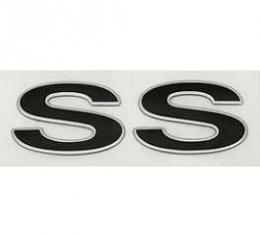 Camaro Rear Panel Emblem, SS, Silver, 1993-2002