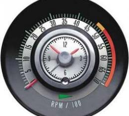 Camaro Clock & Tachometer, Tic-Toc, 5000 RPM Redline, 1968