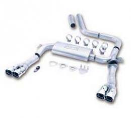 Camaro Exhaust System, Dual Cat Back Adjustable, Borla, V8,1995-1997