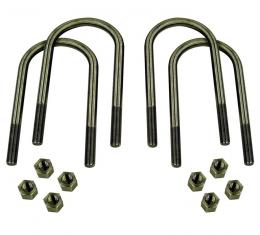 Detroit Speed U-Bolts Rear Axle 1/2 Inch-20 Steel with Electroplate Finish Fits all 3 Inch Axle Tubes 040701