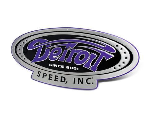 Detroit Speed Since 2001 Logo Embossed 3 Garage Sign 999101