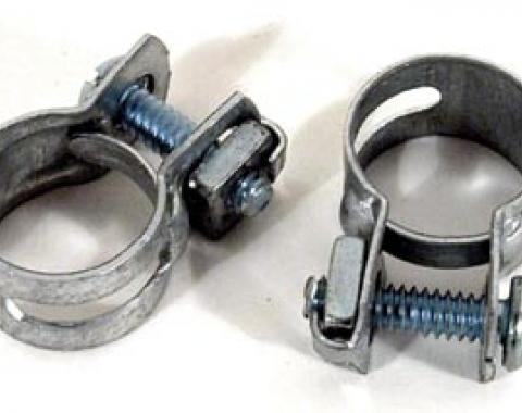 Corvette Expansion Tank Hose Clamps, 2 Piece Set, 1961-1972