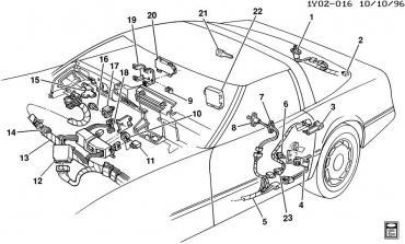 Corvette Door Ajar Indicator Retainer, 1985-1987