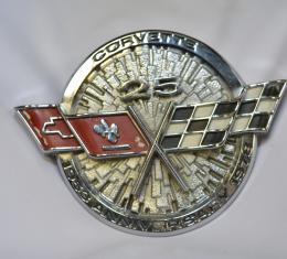 Corvette Front Emblem, Silver Anniversary, USED #3 1978