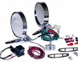 Scott Drake 1964-66 Mustang Deluxe Remote Mirror Kits with LED indicators C5ZZ-17696-LED