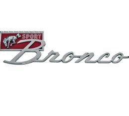 Scott Drake 67-77 Bronco Sport Fender Emblem C7TZ-16098-A