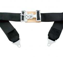 "Scott Drake 1964-73 Mustang 3"" Race Style Lap Belt (Black) SB-RACE"